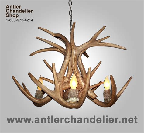 Reproduction Antler Whitetail Deer Chandelier 4 Lights Antler Chandelier Shop