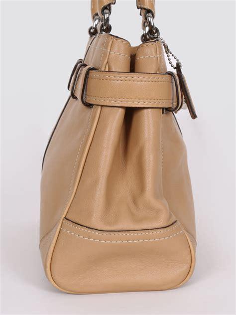 Leather Handbag Beige coach beige leather small shoulder bag luxury bags