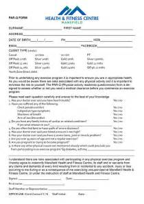 pin gym membership application form template sierra blog