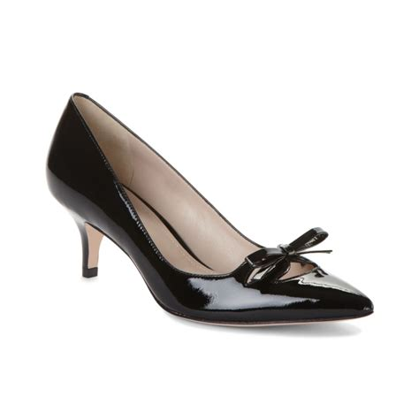 Kitten Heels Pumps joan david gila kitten heel pumps in black black patent