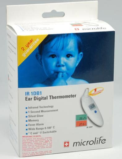 Termometer Infrared Microlife microlife infrared ear digital thermometer ir 1db1 perak end time 4 26 2015 8 15 00 pm myt