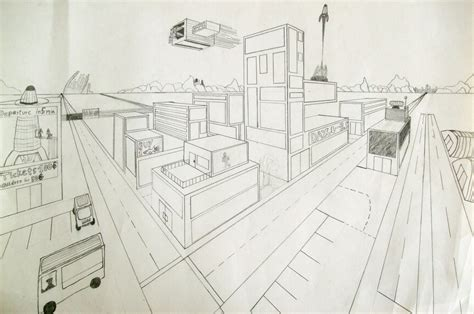 Drawing 2 Point Perspective by Highschoolart 2 Point Perspective Drawing High School