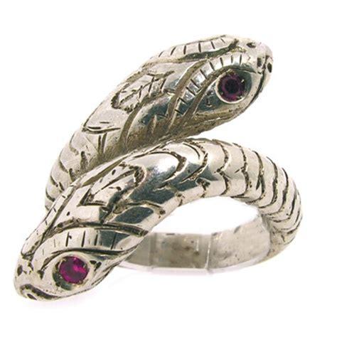 serpenti a due teste anello con serpente a due teste in argento