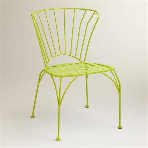 world market metal chairs apple green cadiz metal chairs set of 2 world market