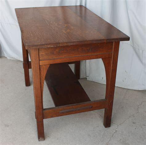 Library Table L bargain s antiques 187 archive oak library table l and j g stickley bargain s