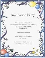 graduation party invitation words templates clip art