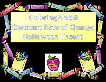 theme changer line halloween coloring sheet constant rate of change halloween theme