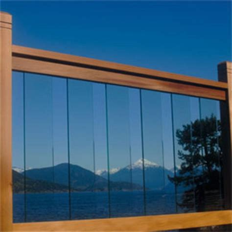 Glass Banister Kits by Railsimple Cedar Glass Railing Kits Clearview Series