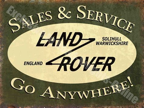 vintage garage 43 land rover sales service advert