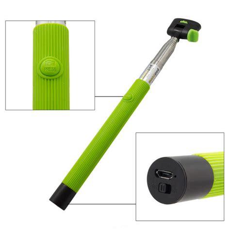 Monopod Bluetooth monopod selfie con disparador bluetooth verde accesorio