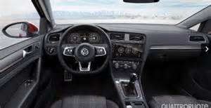 2017 vw golf gti facelift interior leaked image indian