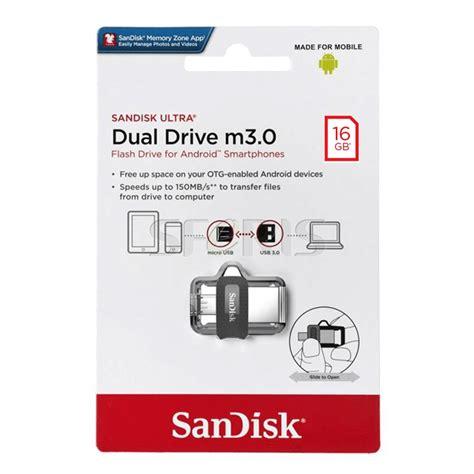 Sandisk Otg Usb 3 0 16gb sandisk ultra dual drive 16gb usb 3 0 otg pen drive