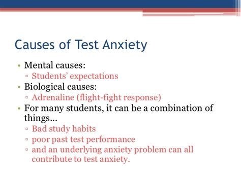 anxiety test test anxiety