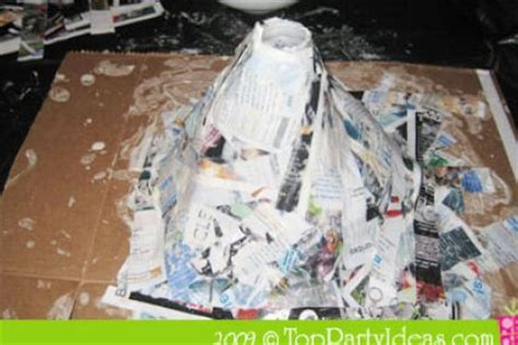 How To Make A Volcano Out Of Paper - how to make a paper mache volcano steps driverlayer