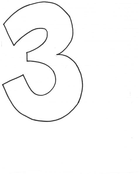 number 3 template create studio beanbag numbers templates