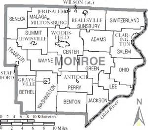 Ohio Township Map by File Map Of Monroe County Ohio With Municipal And Township