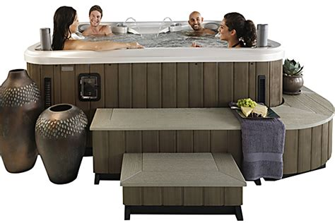 spa couches 5 ways to improve your spa or hot tub appeal hottubworks