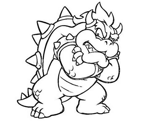 mario coloring pages bowser jr super mario land bowser cocky dragon coloring 590435