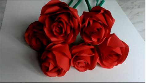 How Make Paper Roses - how to make paper roses valentines day s day b