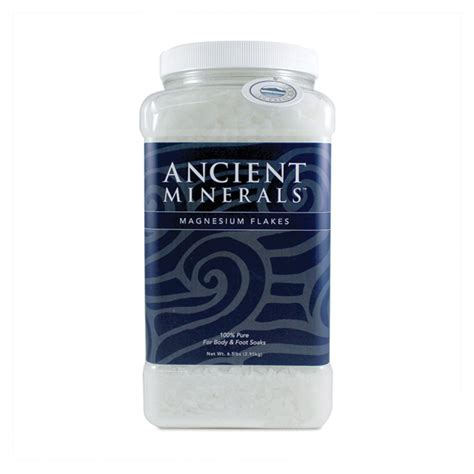 Magnesium Chloride Detox by Ancient Minerals Magnesium Bath Flakes