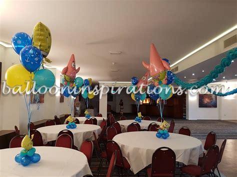 spongebob centerpiece decorations underwater balloon decor sponge bob themed birthday