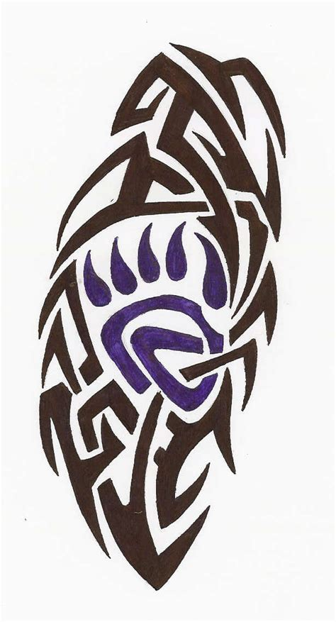 tribal bear tattoo designs claw tribal by pinguin83 on deviantart