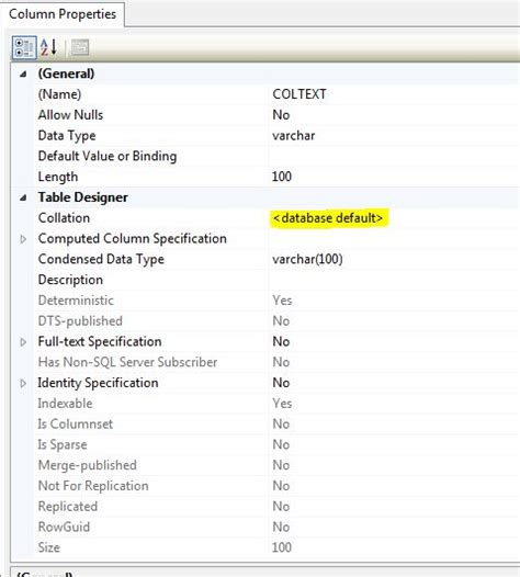 Change Table Collation Default Collation Different From Instance Default Tomas Lind