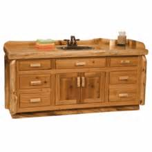 fireside lodge cedar log bathroom vanity 6 foot