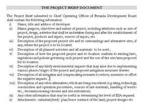 construction project brief template business procedures in rwanda