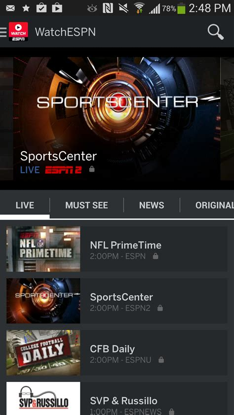 espn app android related keywords suggestions for watchespn app
