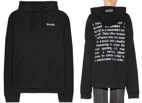 in hoodie rihanna in vetements black embroidered hoodie haus of rihanna