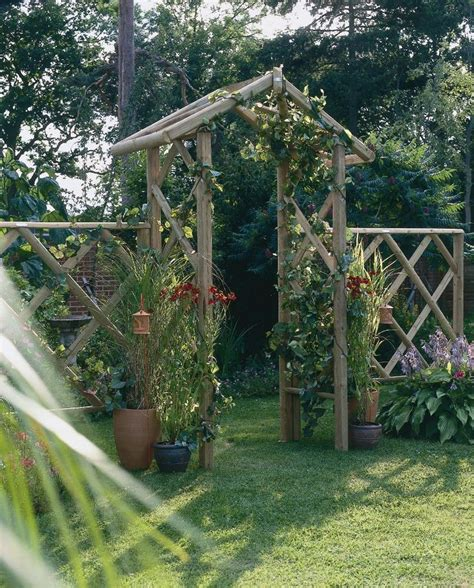 Garden Arch Forest Forest Arch A Traditional Garden Arch Made From