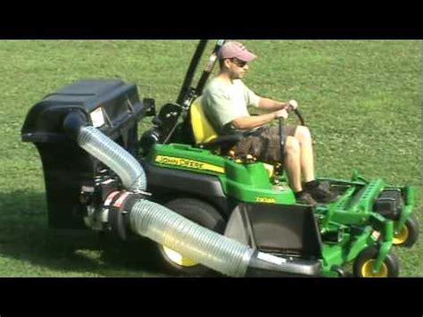 john deere z925a with peco bagger youtube