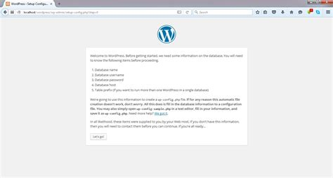 membuat database untuk wordpress tutorial cara install wordpress di localhost mujazmi com