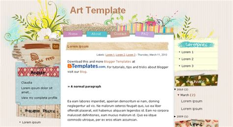 10 most popular blogger blogspot templates blogger