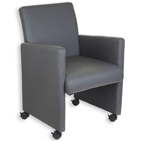 stuhl mit rollen und bremse stuhl sessel lounge mit rollen kunstleder grau ebay