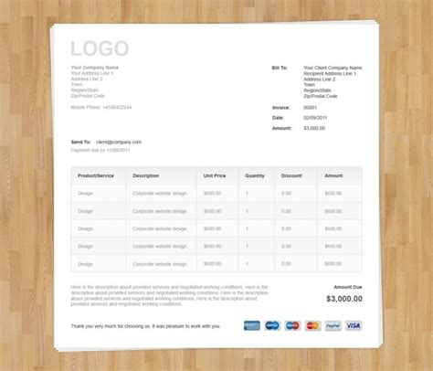 invoice template bootstrap free invoice template bootstrap invoice exle