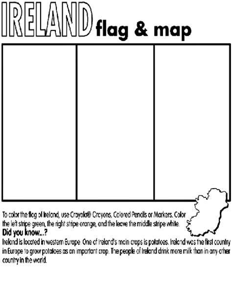 Ireland Coloring Page Crayola Com Ireland Coloring Pages