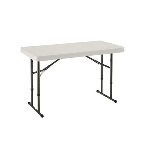 4 adjustable height table lifetime 4 ft commercial adjustable height folding table