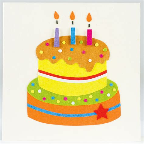 Handmade Birthday Cakes - traidcraft handmade birthday cake card tekz