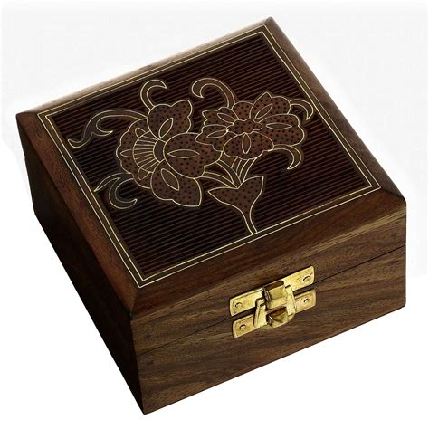 Handcrafted Wooden Jewelry Boxes - handcrafted wood gifts designer jewelry box flowers