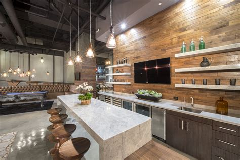 Industrial Kitchen Lighting Loft Living Downtown Los Angeles Style Home Modern Lighting Design