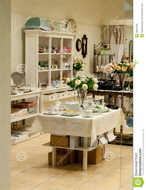 home decor and dishes shop royalty free stock image