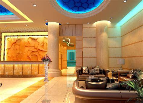 Hotel reception design, neoclassical hotel interior lobby