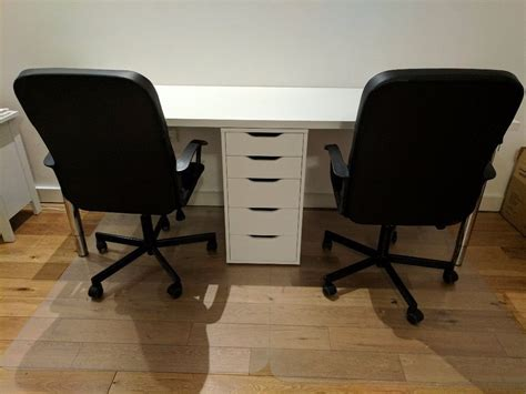 two person desk ikea 2 person office desk with matching drawer ikea alex