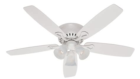 low profile ceiling fan no light hunter ceiling fans hunter camille 52 in brushed chrome