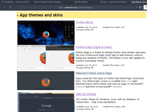 Firefox Themes Userstyles | 3 free websites to get themes for firefox
