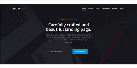 Lucid Free Bootstrap Landing Page Template Bypeople Bootstrap Landing Page Template