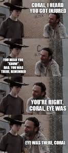 Carl Walking Dead Meme - rick walking dead carl meme the walking dead happy