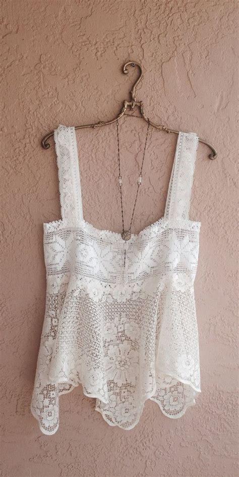 Crochet Lace Camisole Top bohemian crochet vintage lace camisole wedding